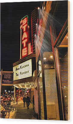 State Theater Marquee Wood Print
