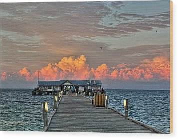 Anna Maria City Pier Wood Print by HH Photography of Florida