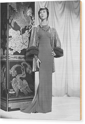 Anna May Wong In An Edith Head-designed Wood Print by Everett