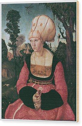 Anna Putsch First Wife Of Johannes Cuspinian Wood Print by Lucas Cranach the Elder