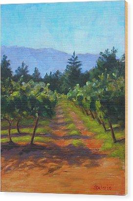 Annadel Shadows Wood Print by Joyce Delario