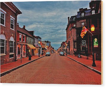 Annapolis Wood Print by Benjamin Yeager