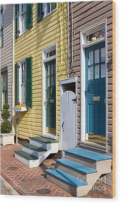 Annapolis Historic Homes I Wood Print