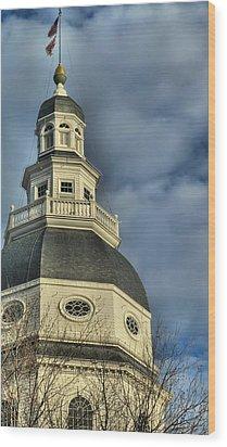 Annapolis Statehouse Wood Print