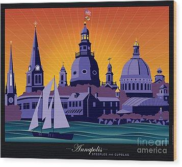 Annapolis Steeples And Cupolas Wood Print
