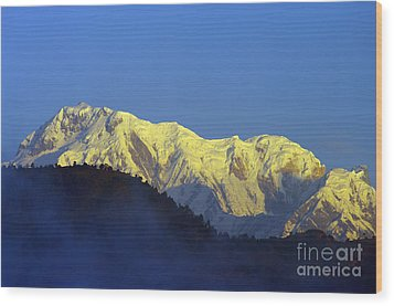 Wood Print featuring the photograph Annapurna Dawn by Jacqi Elmslie