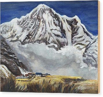 Annapurna L Mountain In Nepal Wood Print
