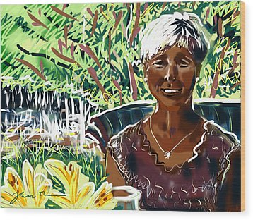 Wood Print featuring the painting Anne by Jean Pacheco Ravinski