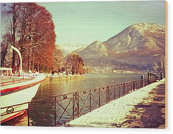 Annecy Golden Fairytale. France Wood Print by Jenny Rainbow