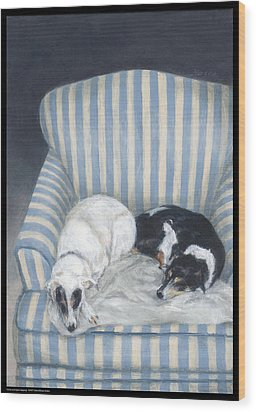Annie And Spike Napping Wood Print