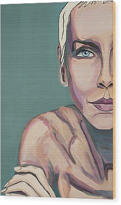 Annie Lennox Talk To Me Wood Print