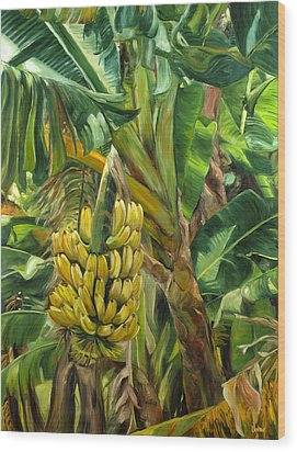 Annie's Bananas Wood Print by Stacy Vosberg
