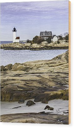 Wood Print featuring the photograph Annisquam Light by Betty Denise