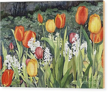 Ann's Tulips Wood Print
