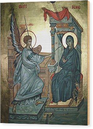 Annunciation Wood Print by Filip Mihail