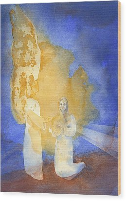 Annunciation Wood Print by John Meng-Frecker