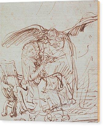 Annunciation  Wood Print by Rembrandt Harmenszoon van Rijn