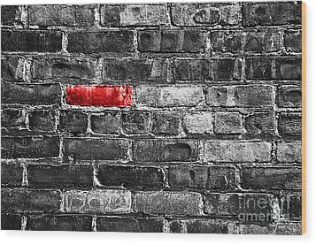 Another Brick In The Wall Wood Print by Delphimages Photo Creations