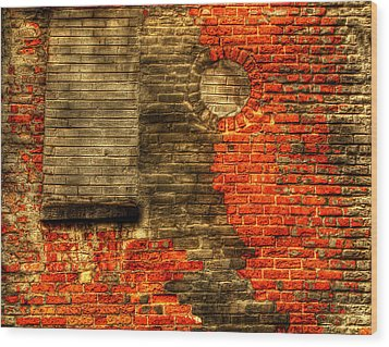 Another Brick In The Wall Wood Print by Thomas Young