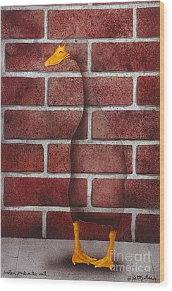 Another Brick In The Wall... Wood Print by Will Bullas