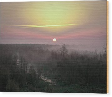 Another Dawn Over The Prairie Wood Print