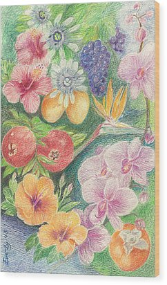 Another Day In Paradise Wood Print by Eve-Ly Villberg
