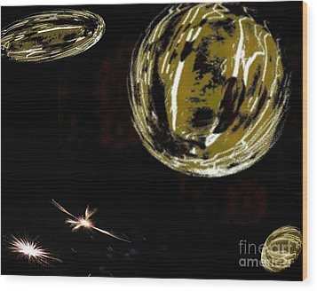 Another Earth - Abstract - Ile De La Reunion - Reunion Island - Indian Ocean Wood Print by Francoise Leandre