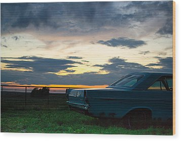Another Ford Sunset Wood Print