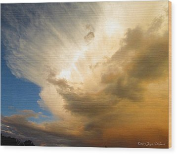 Another Incredible Cloud Wood Print by Joyce Dickens