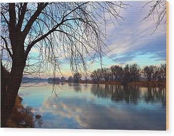 Wood Print featuring the photograph Another Morning Reflection by Lynn Hopwood