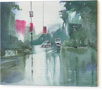 Another Rainy Day Wood Print by Anil Nene