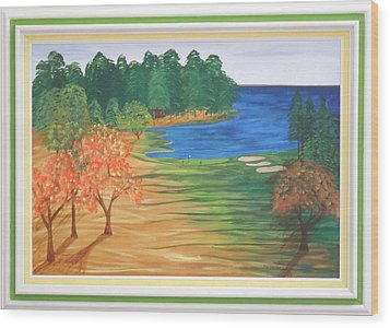 Another Sunday Morning Wood Print by Ron Davidson