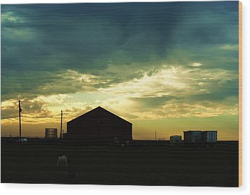 Another Texas Sky Wood Print