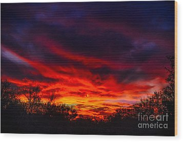 Another Tucson Sunset Wood Print