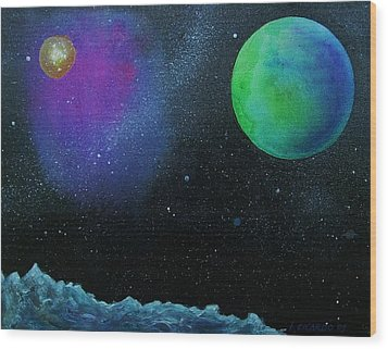 Another World - Sold Wood Print by Lou Cicardo