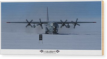 Antarctic Hercules Wood Print by David Barringhaus