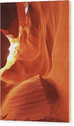 Wood Print featuring the photograph Antelope Canyon In Winter Light 1 by Alan Vance Ley