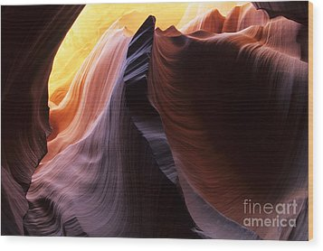 Antelope Canyon Pages Of Time Wood Print by Bob Christopher