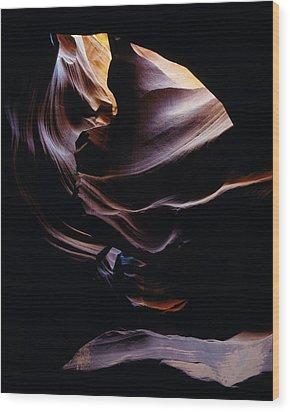 Antelope Cyn Cave Close-up Wood Print
