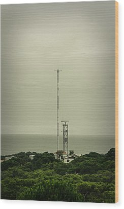 Antenna Wood Print by Marco Oliveira
