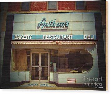 Anthon's Bakery Pittsburgh Wood Print by Jim Zahniser
