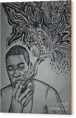 Anthony Wood Print by Kayla Giampaolo