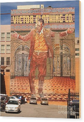 Anthony Quinn Mural Wood Print by Gregory Dyer
