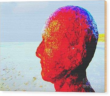 Anthony's Head Wood Print by C Lythgo