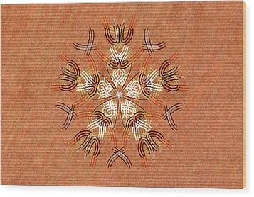 Anthropomorphic Mandala Wood Print by Hakon Soreide