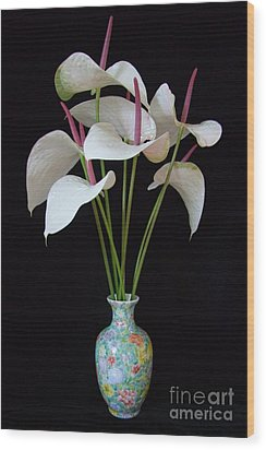 Anthurium Bouquet Wood Print by Mary Deal