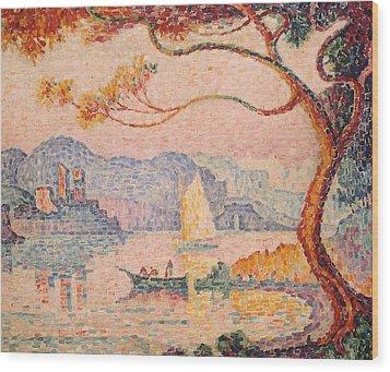 Antibes  Petit Port De Bacon Wood Print by Paul Signac