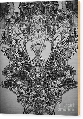 Antichrist Wood Print by Michael Kulick