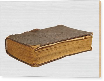 Antique Book Wood Print by Olivier Le Queinec