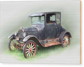 Antique Car Wood Print by Bonnie Willis